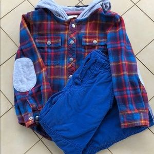 Cat & Jack Shirts & Tops - Cat & Jack Fall Plaid Soft Flannel Button Down